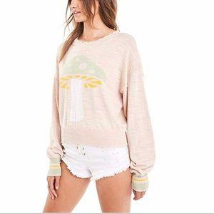 Wildfox mushroom sweater NWT